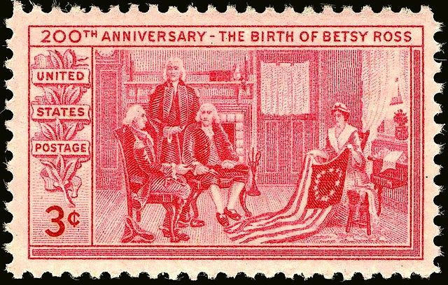 Betsy Ross Stamp The American Alamanac-min